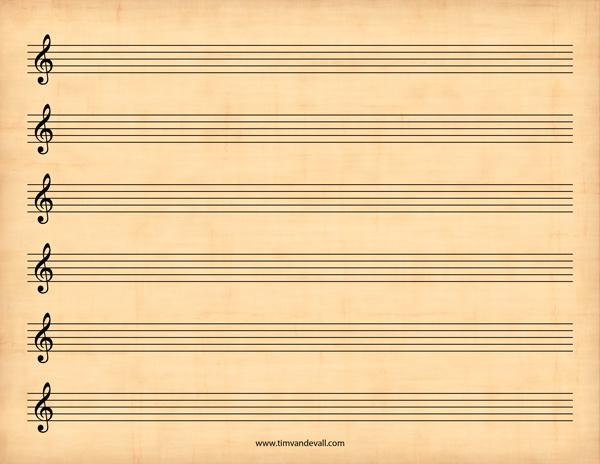 sheet music blank