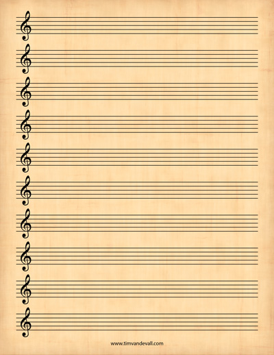 music paper template