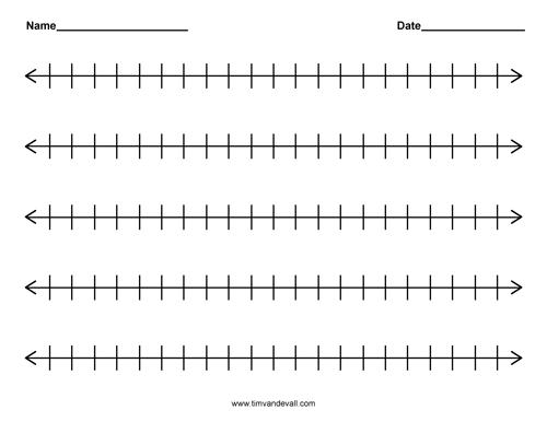 Number Names Worksheets number 1 template printable : Blank Number Line Template. printable blank number line templates ...