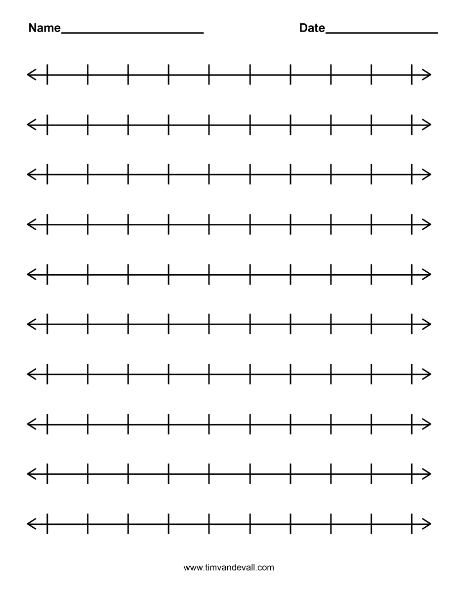 Free Worksheet Free Printable Number Line Worksheets free number line template printable to 100 best photos of numbers lines infographics with ve