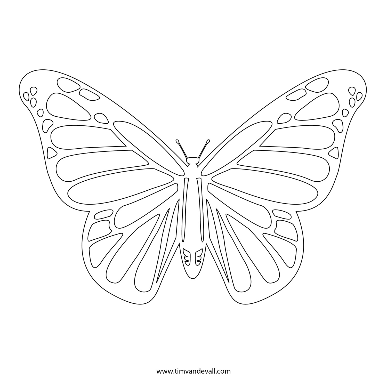 Free Butterfly Stencil