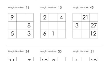 4x4 Magic Square Worksheet - Tim's Printables