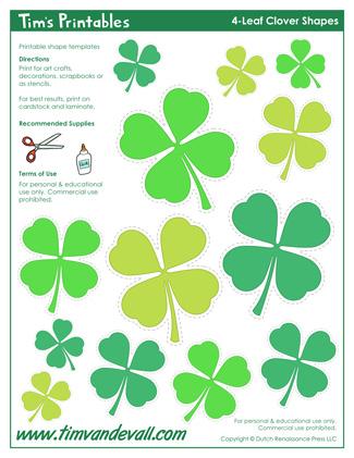 4-Leaf Clover Templates
