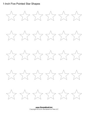 Five Pointed Star Shapes