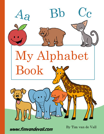 It is a photo of Printable Alphabet Book with regard to baby shower
