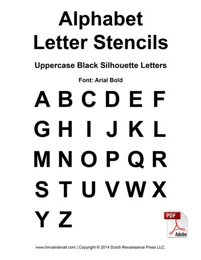 alphabet letter stencils