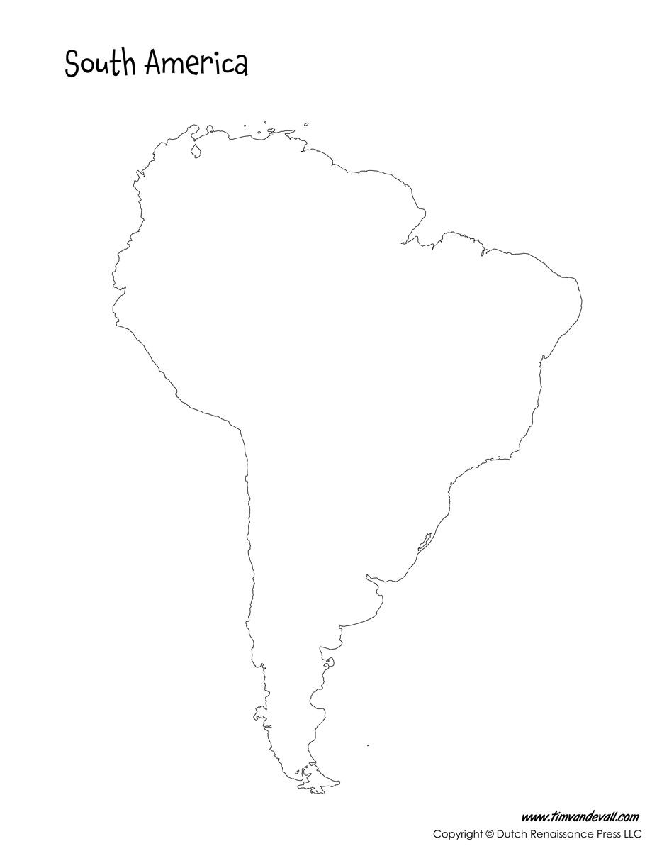 Blank South America Map Tim S Printables