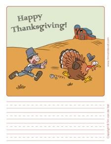 Thanksgiving Writing Paper #1