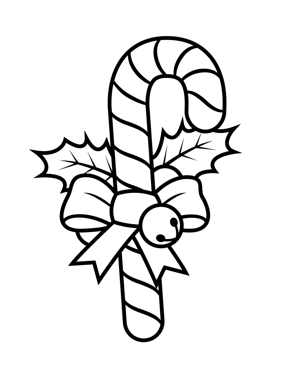 Candy Cane Coloring Page Tim S Printables