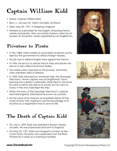 captain william kidd facts for kids
