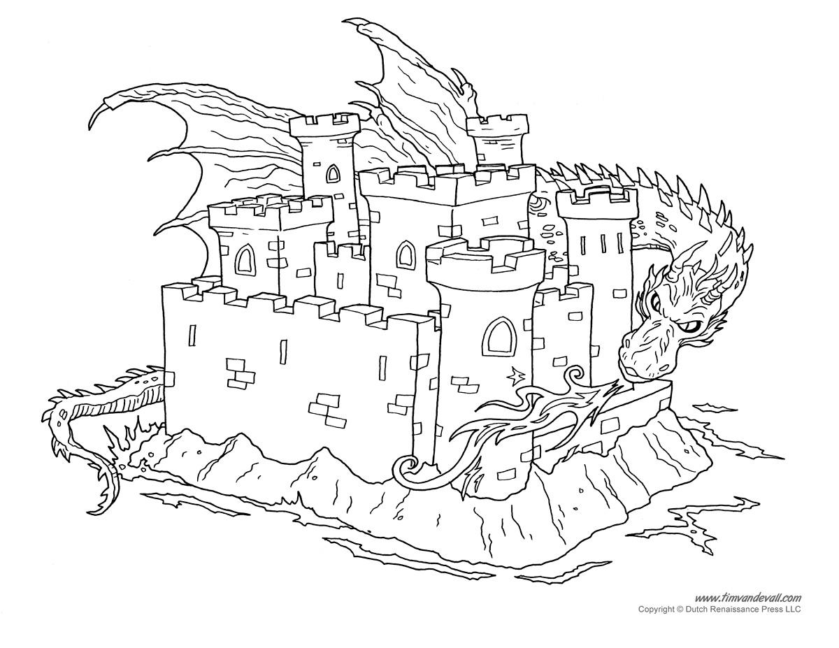 Castle Coloring Page 3 Tim