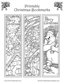 Christmas Bookmarks - Black & White