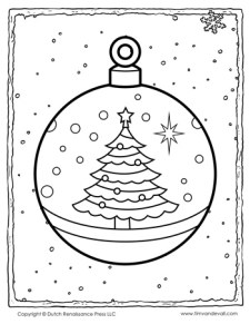 Christmas Decoration Coloring Page