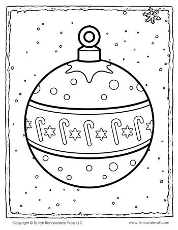 Christmas Ornament Coloring Page 350 Tim S Printables
