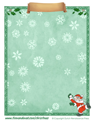 Free Christmas Paper Template
