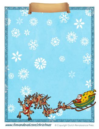 Blank Christmas Paper Template