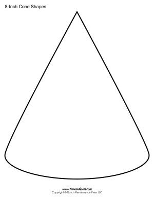 Cone Templates / Cone Shape Printables