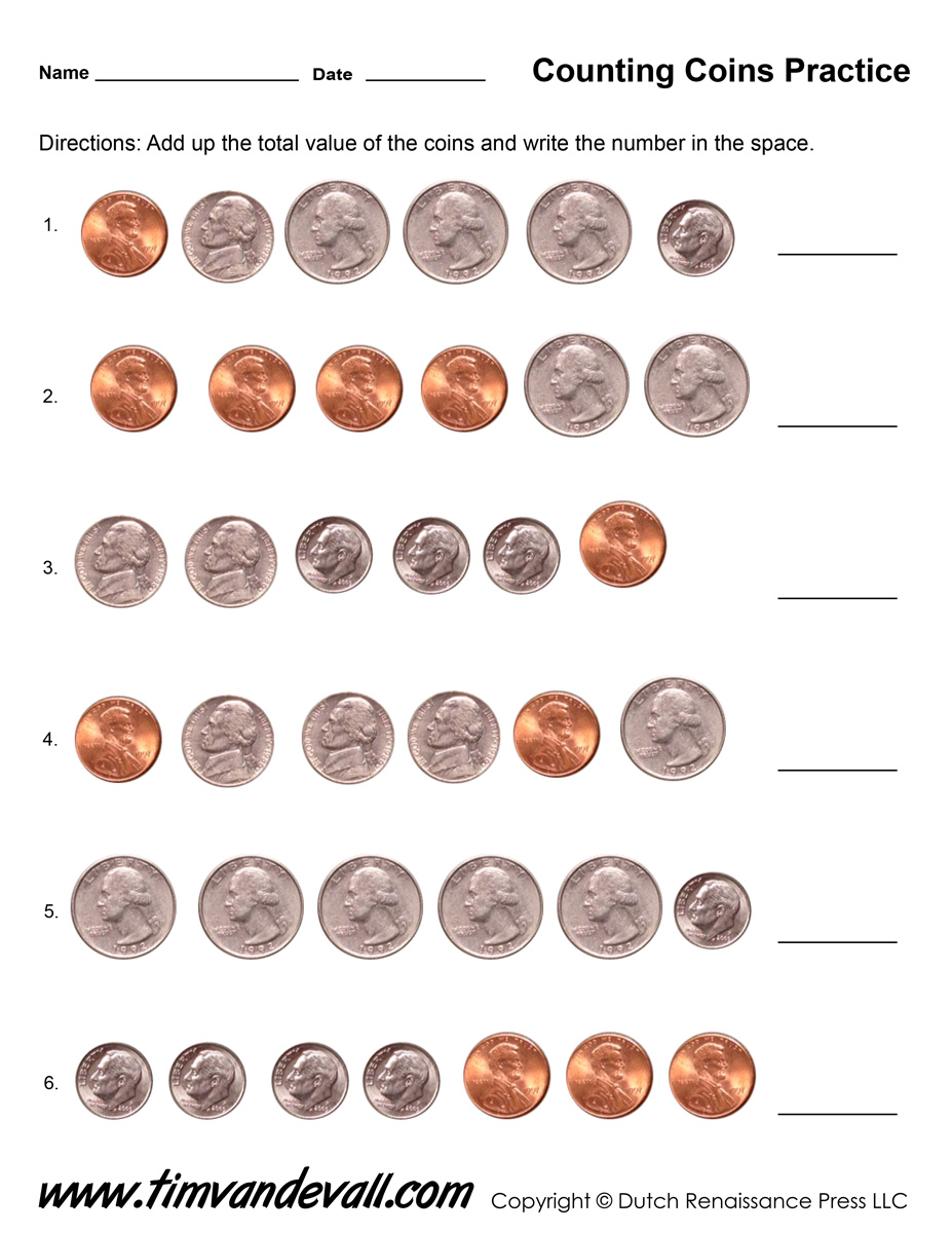 - Counting-Coins-Worksheet-Printable-01 - Tim's Printables