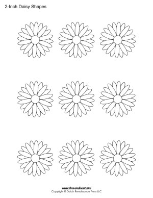 Daisy shapes for kids