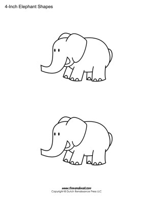 Elephant printable sheet