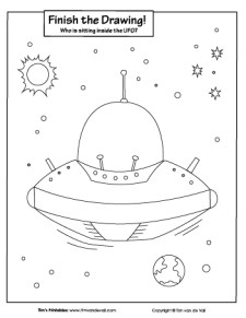 Finish the Drawing - The UFO