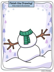 Finish the Drawing - The Snowman