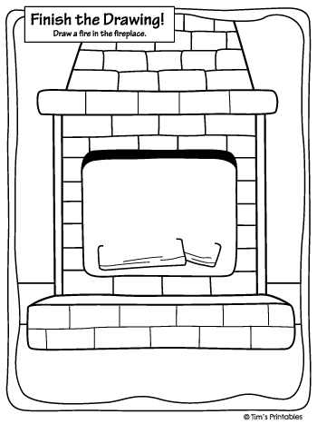 finish the drawing the fireplace