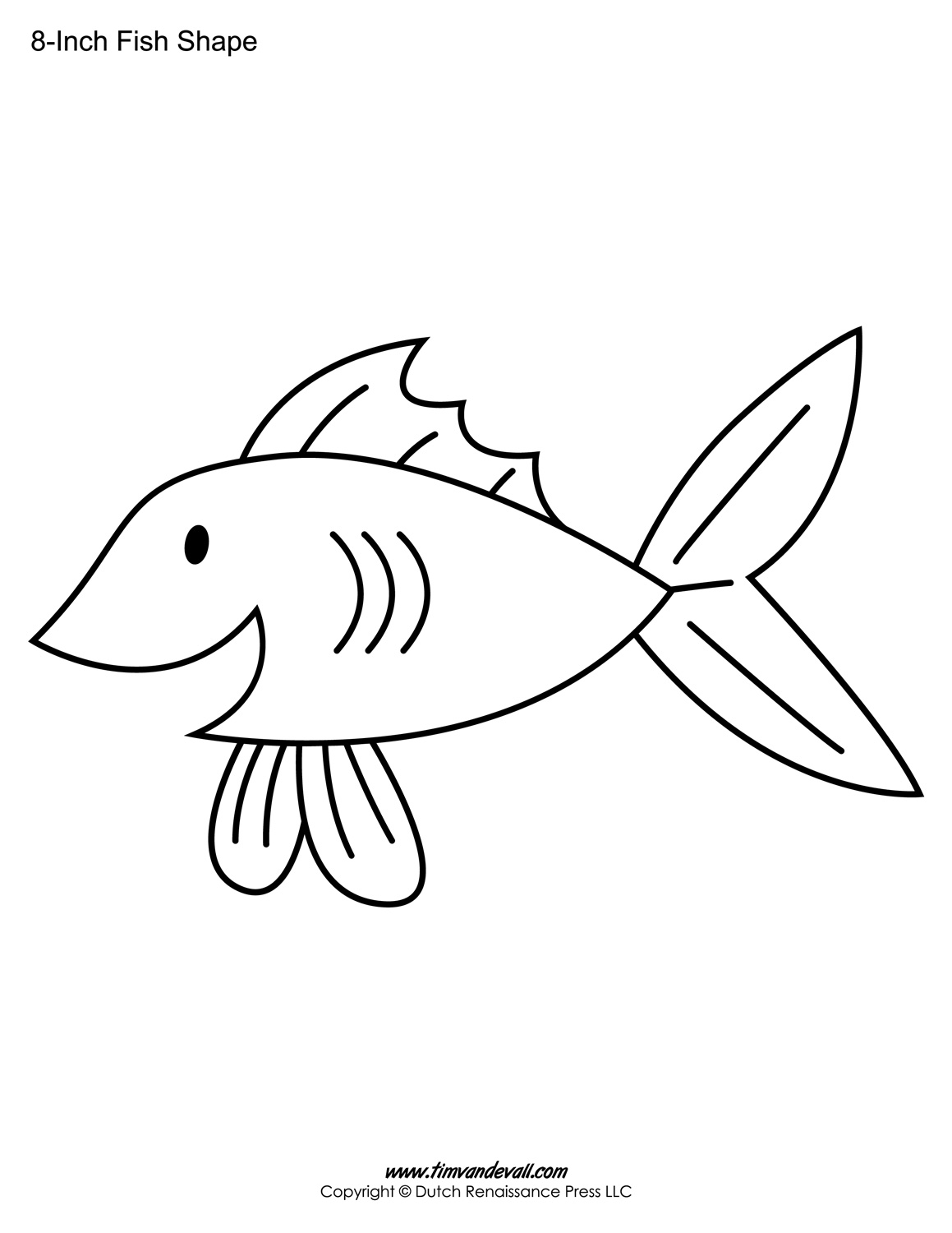 Printable Fish Templates For Kids