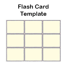 blank flash card templates printable flash cards pdf format