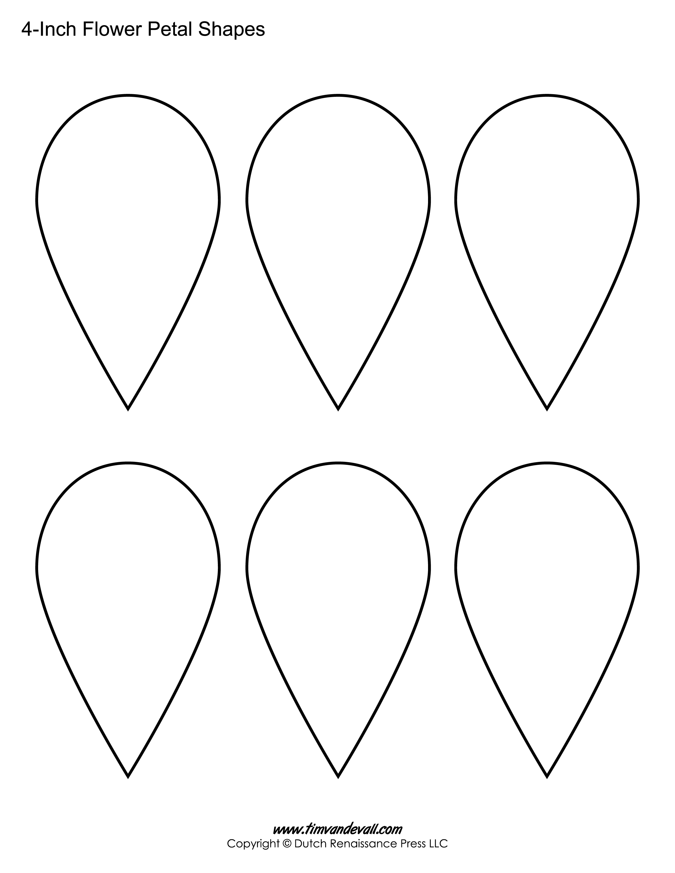 Printable Flower Petal Templates For Making Paper Flowers