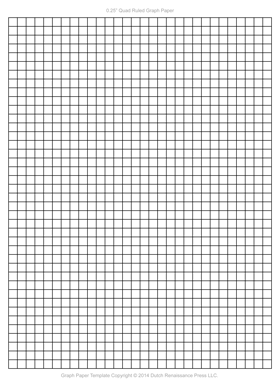 Graph Paper Template, 1/4 Inch Letter PDF