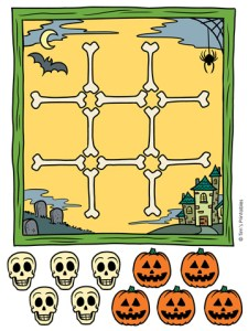 Halloween Tic Tac Toe Activity PDF