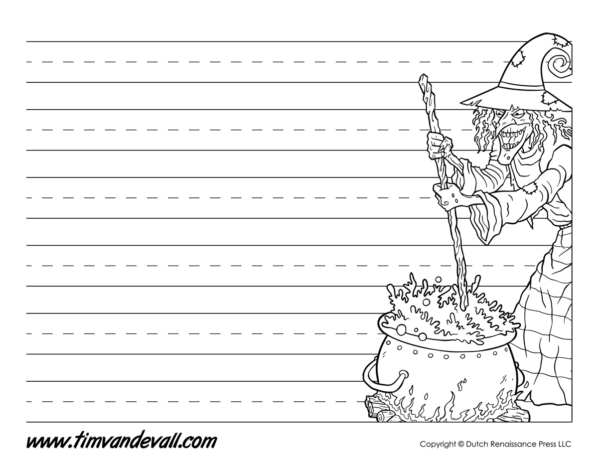Printable Halloween Writing Paper