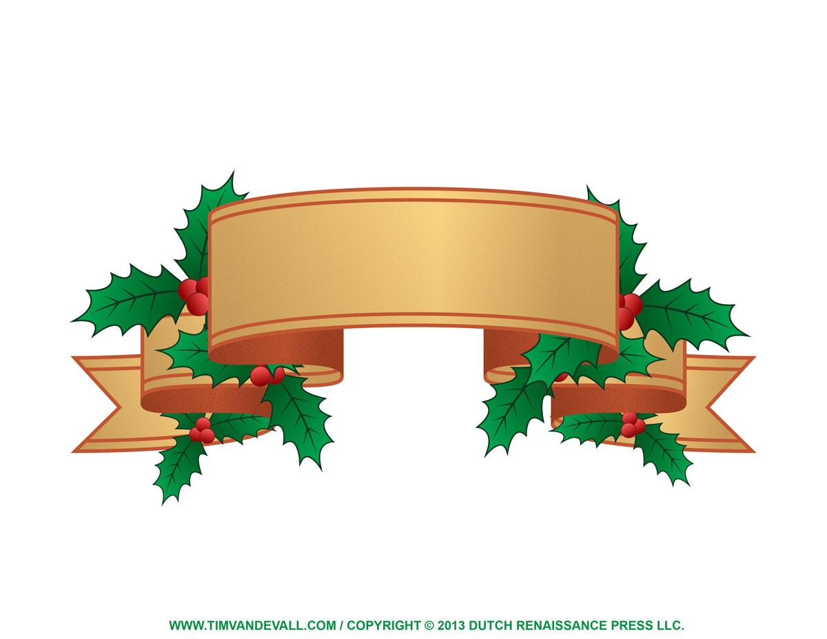 Christmas Label Clip Art