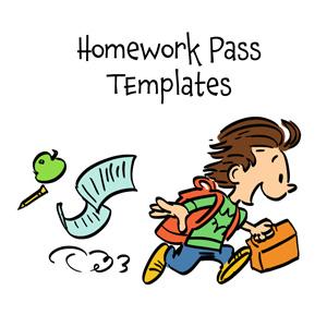 Printable Homework Passes Free Homework Pass Template