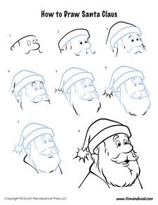 How to Draw Santa!