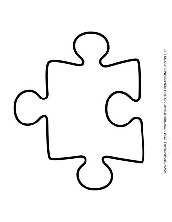 Puzzle Piece Template 1 Tim S Printables