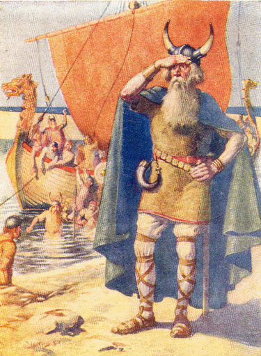 Leif-Ericson-on-the-shore-of-Vinland
