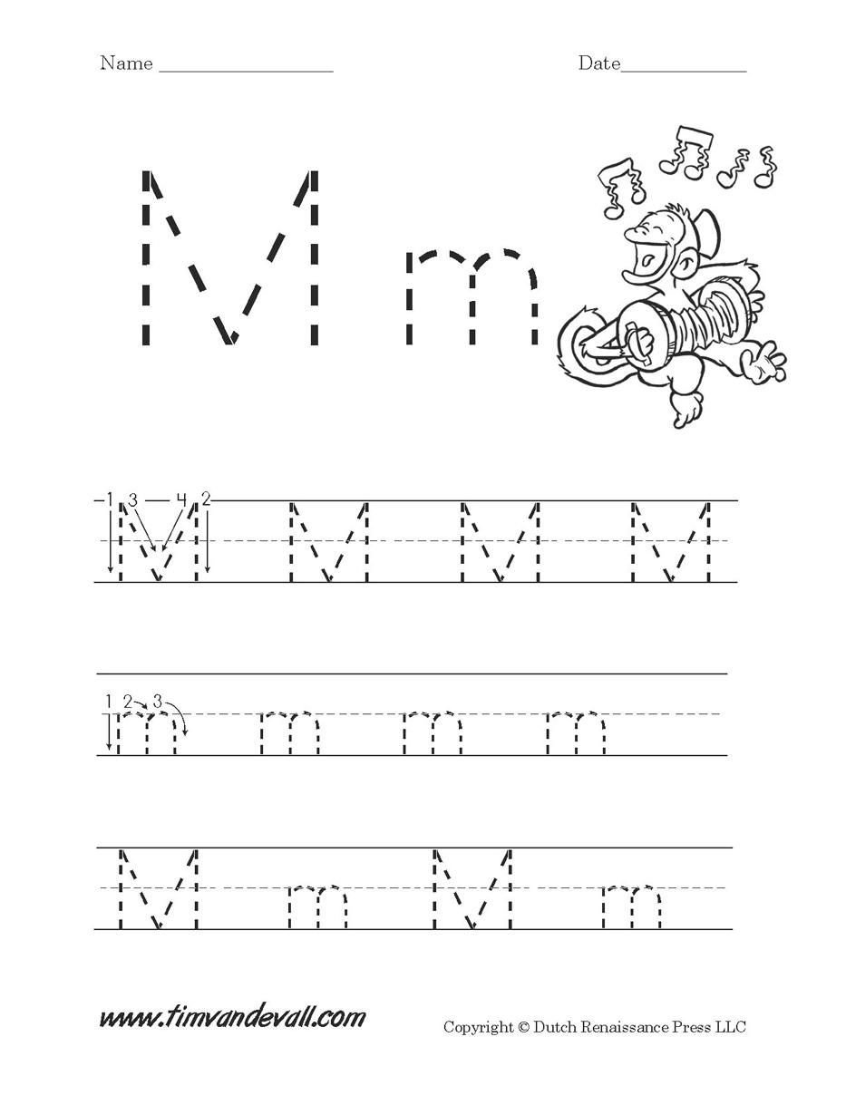 Letter M W Ksheet Tim