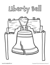 liberty bell coloring page