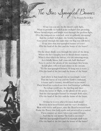 Words to the Star Spangled Banner