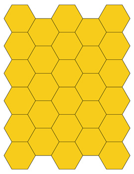 yellow hexagon shapes