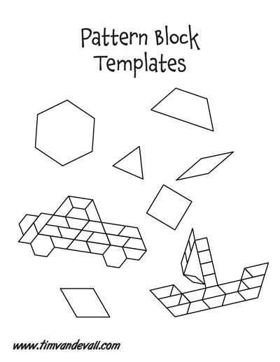 photo relating to Printable Pattern Block Templates known as Habit block templates pdf