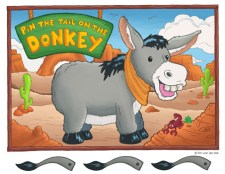 Pin the Tail on the Donkey Printable Poster PDF
