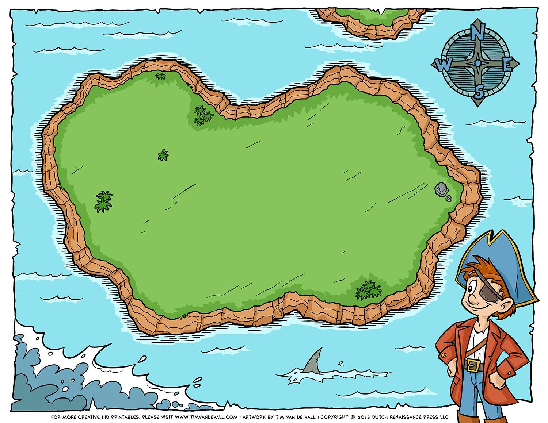 Blank Pirate Treasure Map