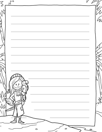 pirate writing paper for kids