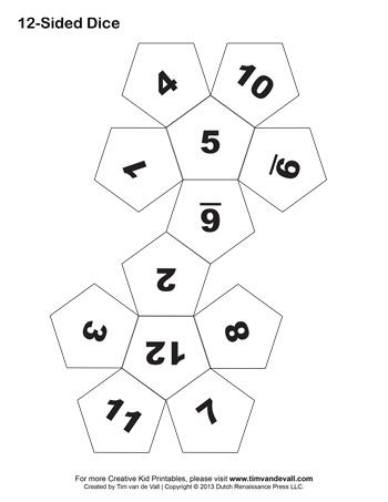 12 sided dice tim s printables