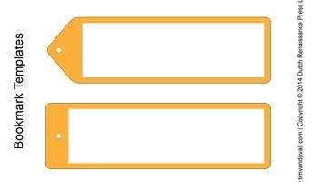 bookmark templates yellow