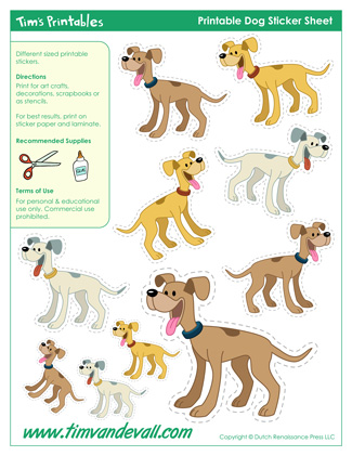 Printable Dog Stickers