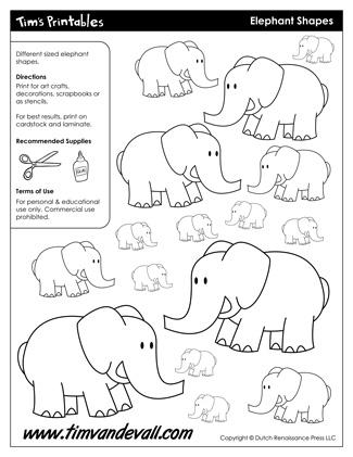 Elephant Shapes